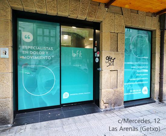 Entrada principal de Bfit Getxo, Centro de Fisioterapia y Entrenamiento Personal