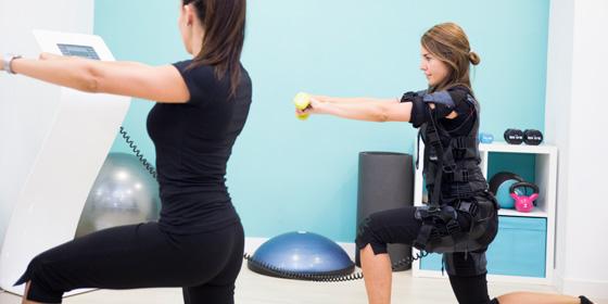 Entrenamiento con electroestimulación muscular EMS