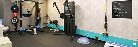 Sala de entrenamiento del centro de fisioterapia y entrenamiento personal Bfit Getco de Las Arenas